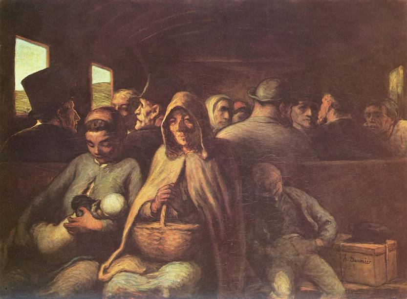 Honore Daumier - The Third Class Carriage, c.1862, National Gallery of Canada