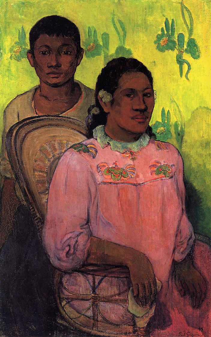 Tahitian Woman and Boy, 1899