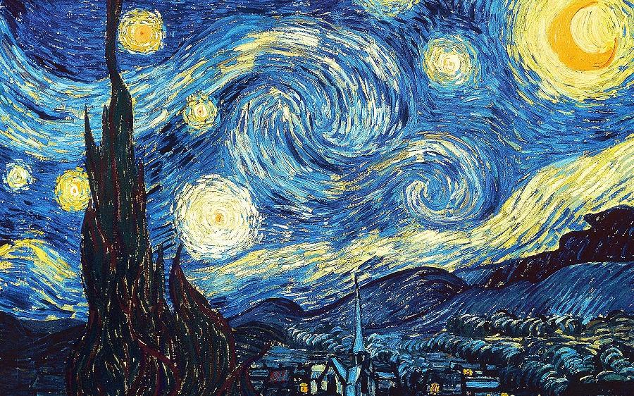 Starry Night, 1889 (Yıldızlı Gece)